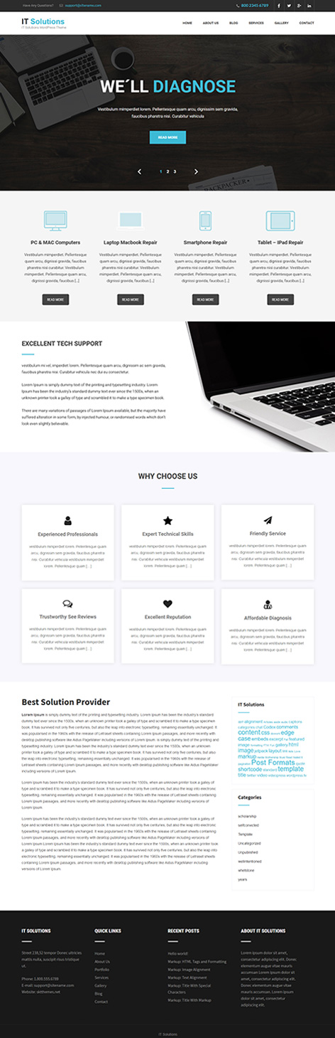 free software company WordPress theme