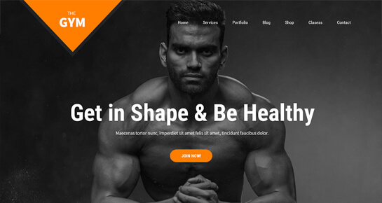SKT Gym WordPress theme
