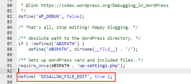 disable the plugin theme editor