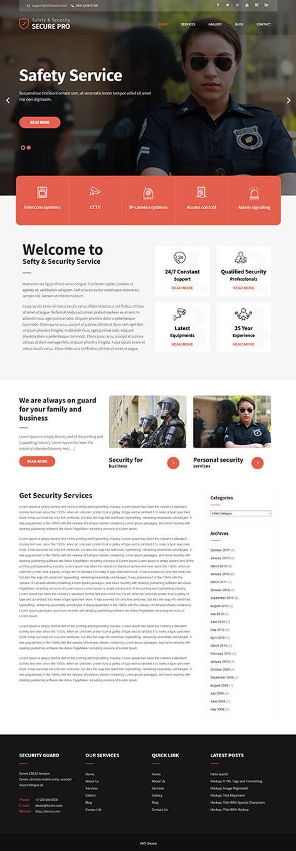free security WordPress theme