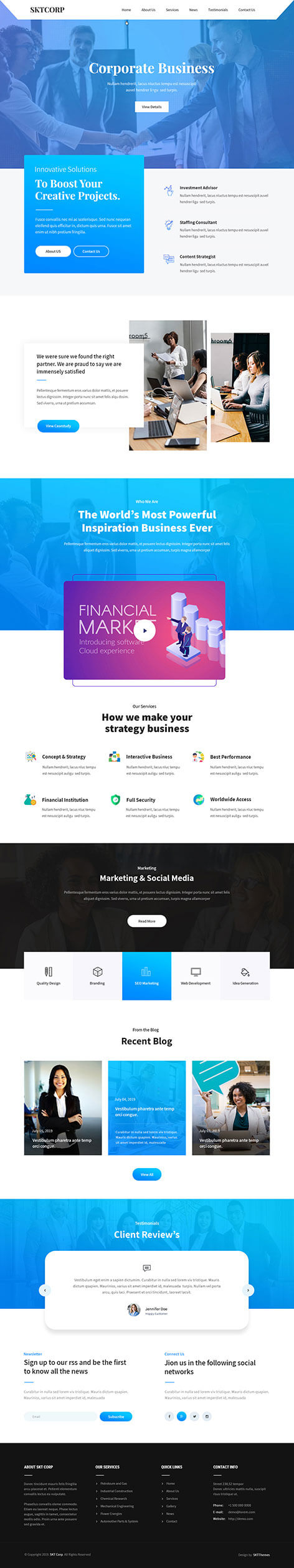 responsive corporate WordPress theme
