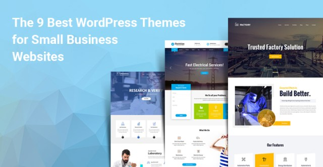 WordPress themes for small business websites