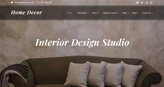 Home Decor WordPress theme