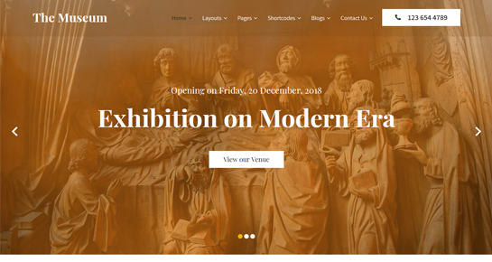 museum WordPress theme