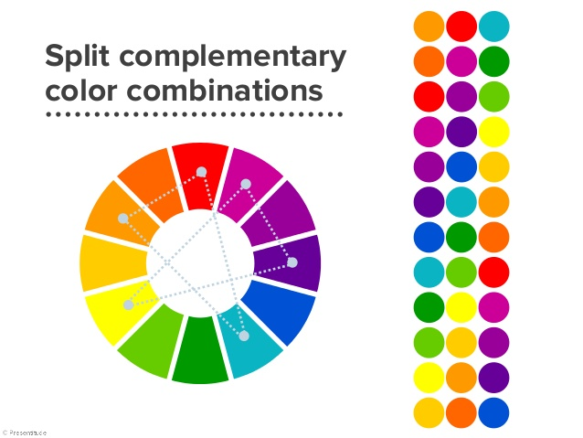 Split Compliment Color Schemes