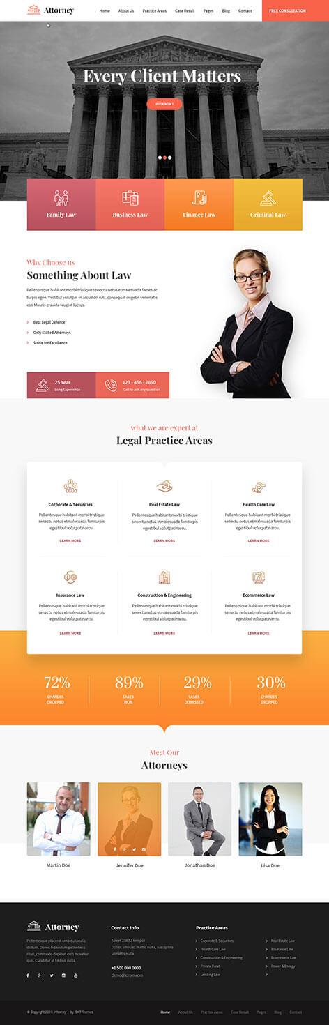 attorney WordPress theme