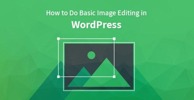 image editing in WordPress