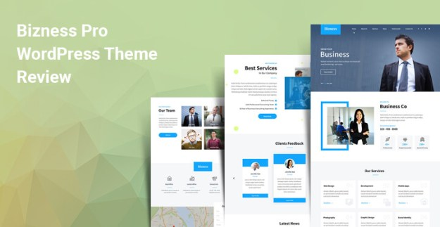 corporate website theme for WordPress