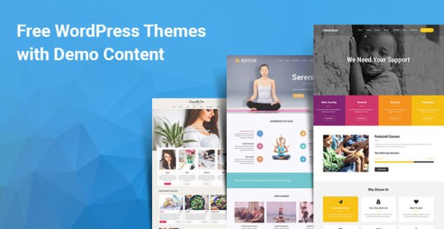 free WordPress themes with demo content