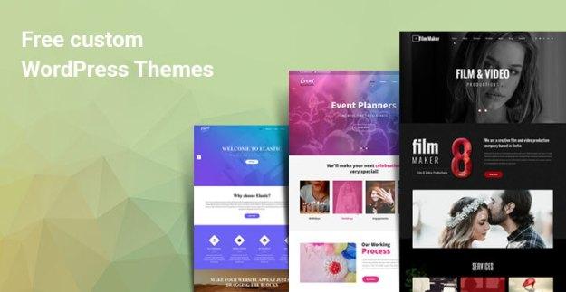 free custom WordPress themes