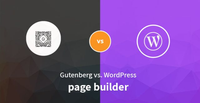 gutenberg vs WordPress page builders
