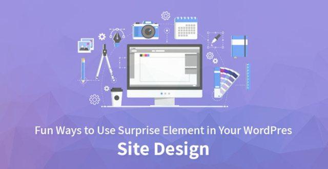 Surprise element WordPress