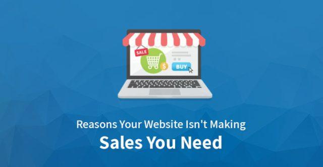 Website isn't making sales