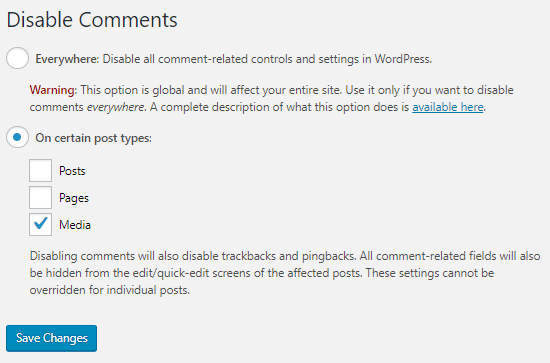 disable comments spam