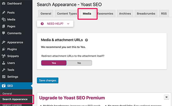 image optimization yoast SEO