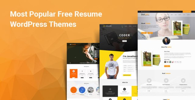 free resume WordPress themes