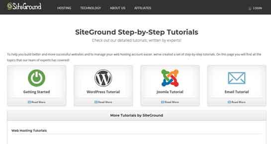 Siteground Knowledgebase