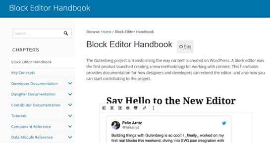 WordPress Gutenberg Handbook