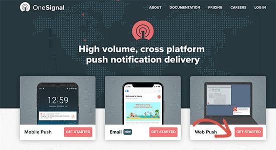 OneSignal WebPush
