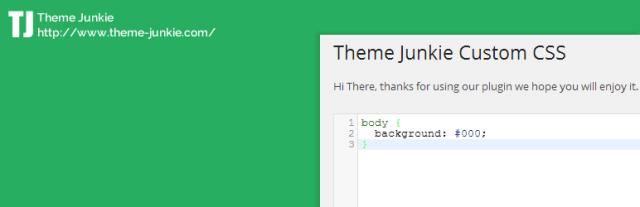 theme junkie Custom CSS
