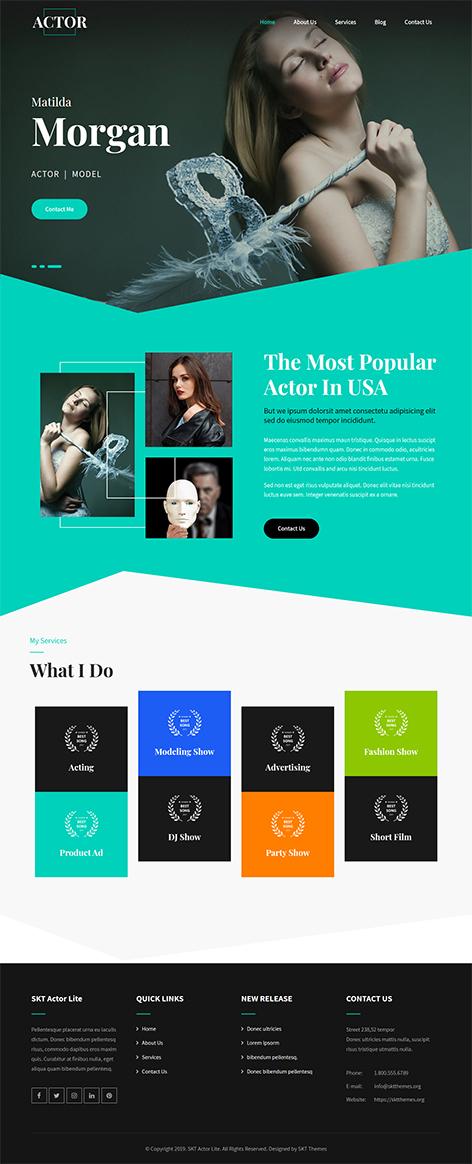 free celebrity WordPress theme