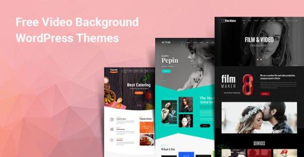 free WordPress themes video background