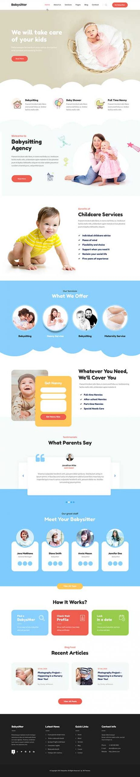 baby WordPress theme