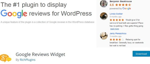 google reviews widget
