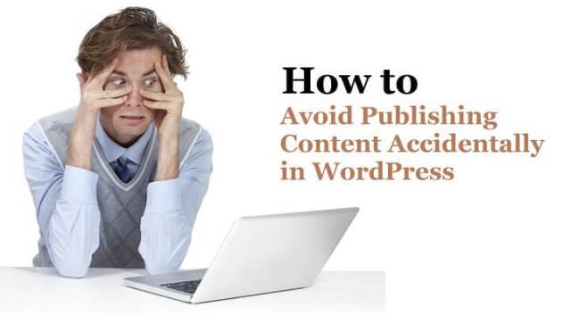 publishing content in WordPress