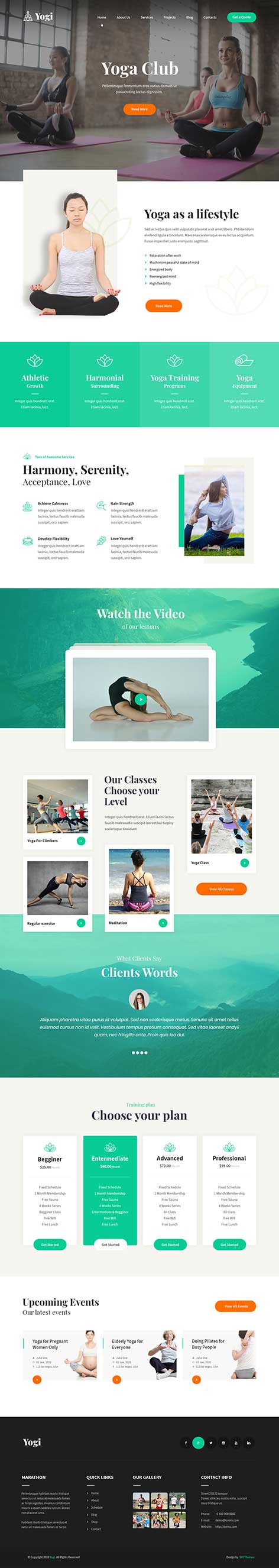 Yoga WordPress theme