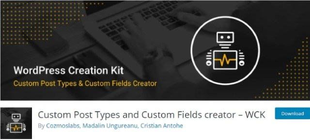 custom post types and custom field creator