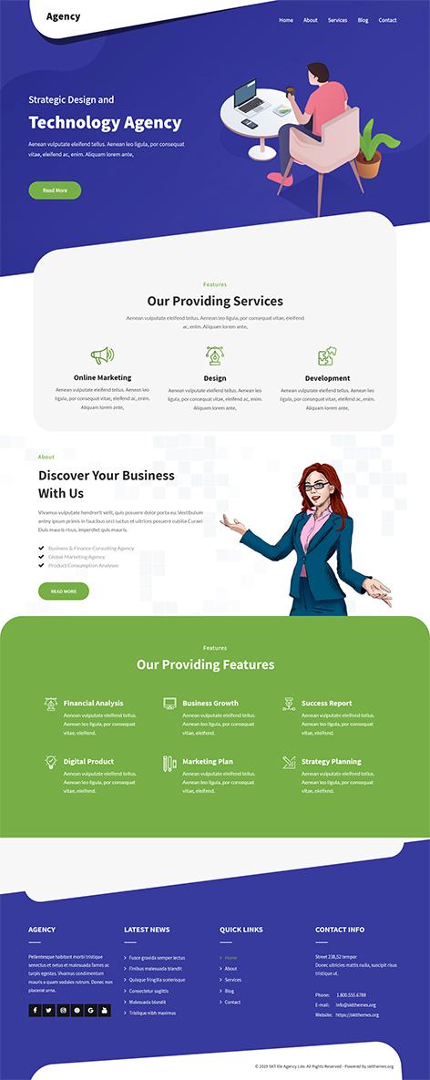 free marketing agency WordPress theme