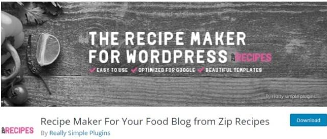 recipe maker zip
