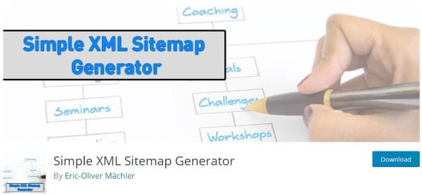 simple XML sitemap generator