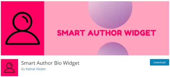 smart author bio widget