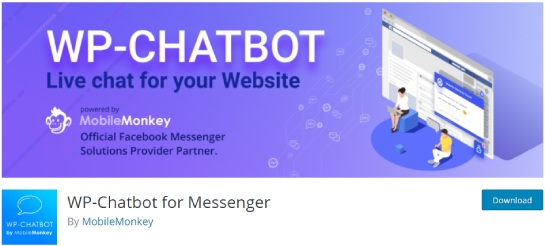wp chatbot for massenger
