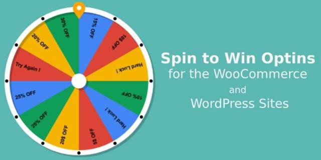 Spin to win Optins in WordPress