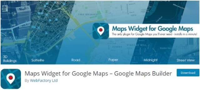 maps widget of google maps