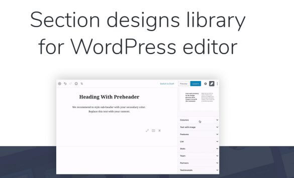 Gutenberg Blocks Design Library