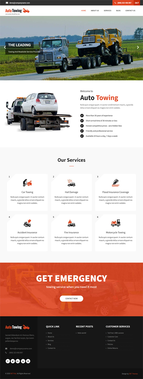 free auto WordPress theme
