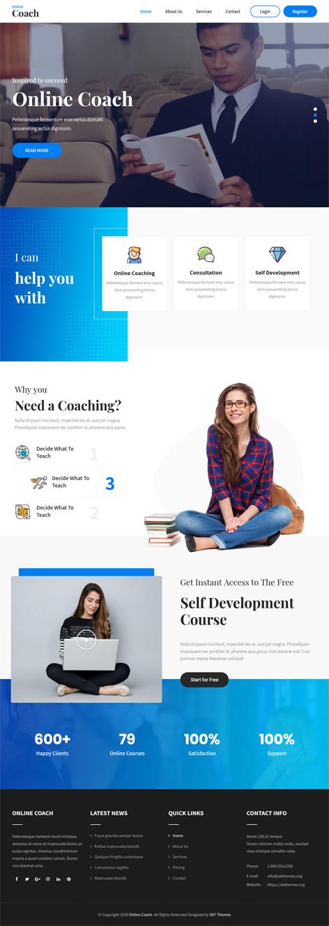 free coach WordPress theme