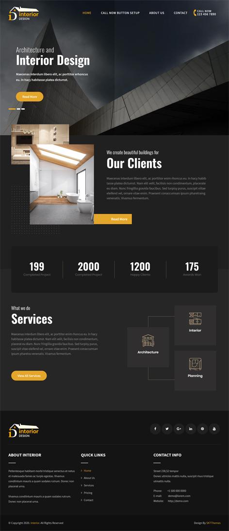 free interior WordPress theme