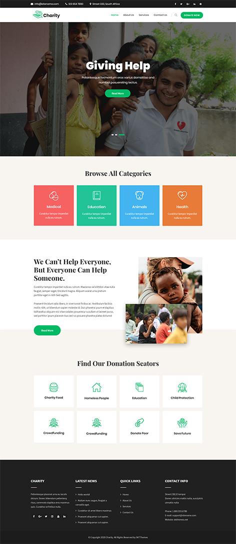 free charity WordPress theme