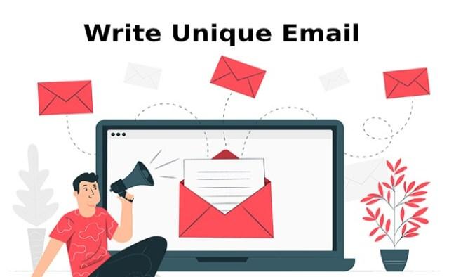 write unique email