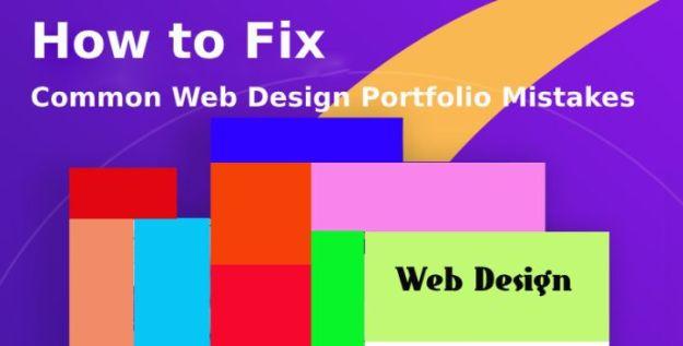 web design portfolio mistakes