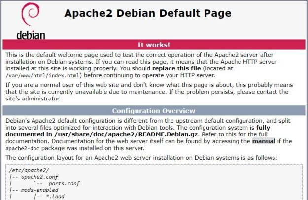 apache default