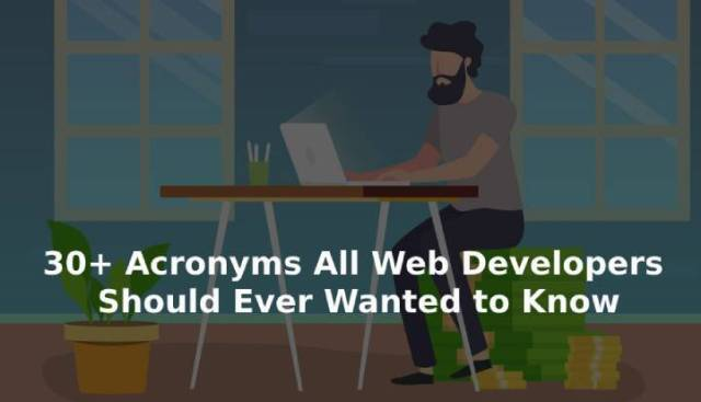 Acronyms for web developers