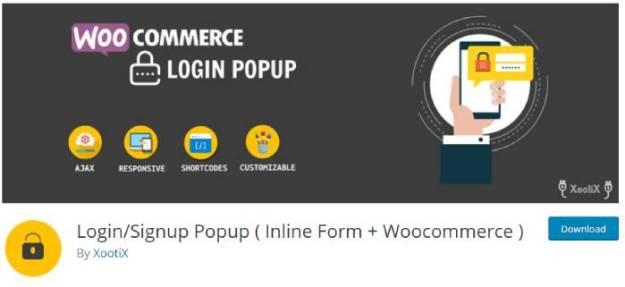 login signup popup