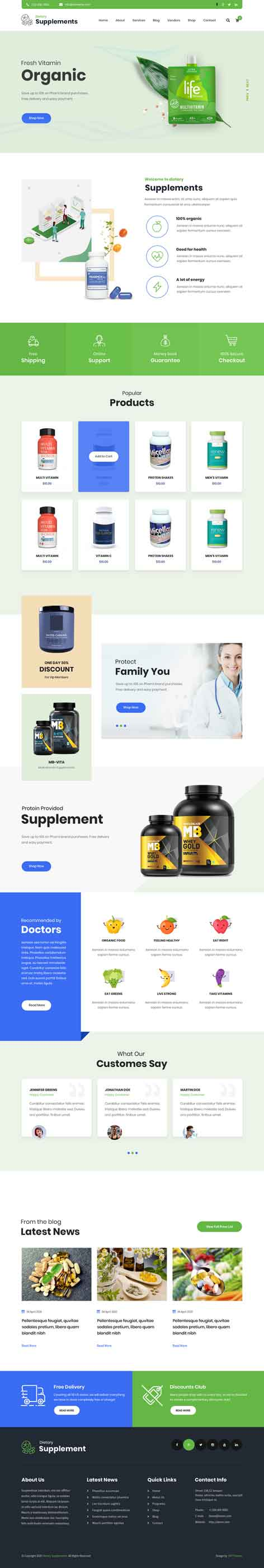 nutrition WordPress theme