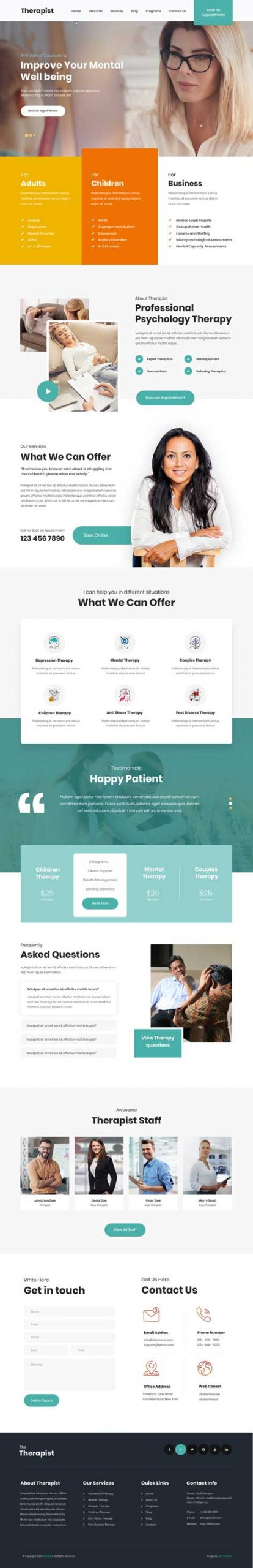 counseling WordPress theme